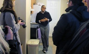 Photo by Joanna Gardner Yolanda Boyer, whose Ocean City home sustained heavy damage from Hurricane Sandy in 2012, speaks to the press in her renovated kitchen last week. Boyer was among the homeowners who reached out to Catholic Charities' disaster case management program when they had nowhere left to turn.
