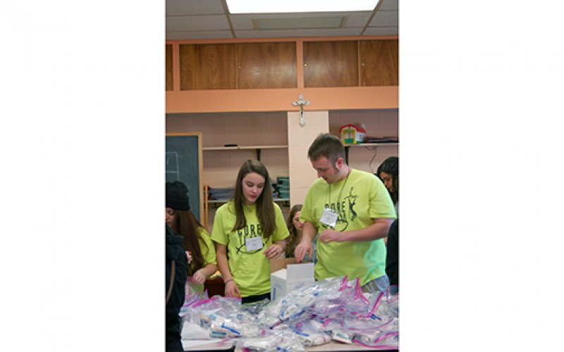 A day of service and praise for diocesan youth