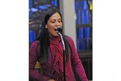 Singer Silvia Mariella witnesses to local Hispanic families
