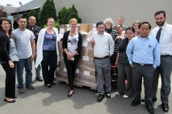 Donated copybooks to benefit local children