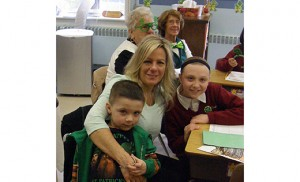 St. Teresa Regional School, Runnemede, recently honored grandparents by inviting them to spend a day at school with the grandchildren. In addition to classroom activities, there were special presentations from the students, door prizes and a grandparents' prayer. Pictured are Julia Viscidy with her grandchildren Andrew (P-K3) and Merissa Moore, grade 5.