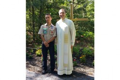 Eagle Scout and volunteers create parish prayer path