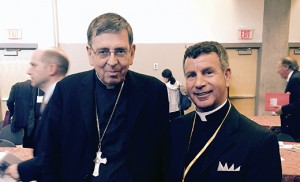Father Joseph D. Wallace stands with Cardinal Kurt Koch, president of the Pontifical Commission for Religious Relations with the Jews.
