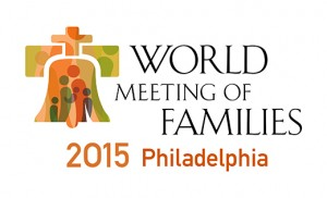 This is the logo for the eighth World Meeting of Families. The international gathering, inaugurated by Blessed John Paul II in 1994, will be held in late September in 2015 in Philadelphia. (CNS/courtesy of Archdiocese of Philadelphia) (Feb. 26, 2013)