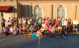 Youth ministers and participants in the Summer in the City at the Shore gather for a photo at St. James Church in Ventnor. Photo by James A. McBride