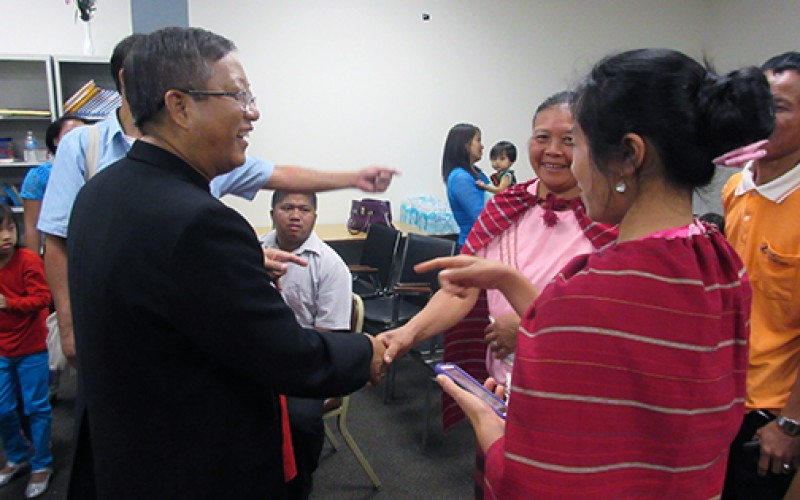 Burmese refugees meet with bishop from their home country before World Meeting of Families