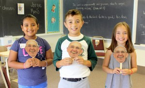 During a day of reflection at St. Joseph Church in Sea Isle City, held in honor of the World Meeting of Families and Pope Francis' visit to the United States, children enjoyed a variety of activities, including creating masks of the well-loved pontiff. Rick and Lisa DiBruno were among six family-presenters who shared personal experiences and insights.
