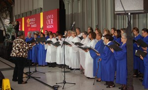 The choir performs on Sept. 22 during the opening ceremony at the World Meeting of Families at the Convention Center in Philadelphia. The congress has drawn more than 17,000 registrants from over 100 countries. Photos by James A. McBride