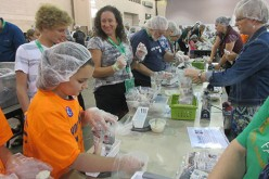 Local families join CRS Helping Hands project