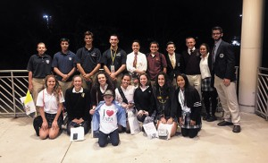 Students Papal Mass in Madison Square Garden
