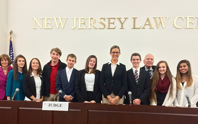 School mock trial team presents for New Jersey State Bar Foundation