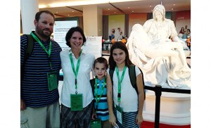 The Reemmer family of Egg Harbor Township at the World Meeting of Families theological congress, held in advance of Pope Francis' visit to Philadelphia.