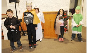 Children dressed as their favorite saints during the All Saints Day Faith Festival Nov. 1 at Mary Mother of Mercy Parish, Glassboro. Photo by Alan M. Dumoff
