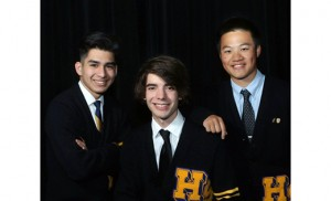 Enzo Ronchi, Ryan Gattini and Justin Zhong of Holy Spirit