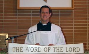 Steve Bertonazzi speaks at St. Padre Pio Parish, Vineland. Photo by James A. McBride