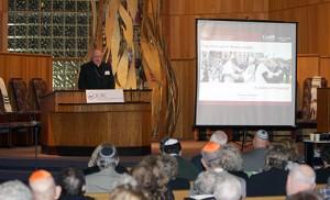 Bishop Sullivan addresses the Catholic Jewish Symposium Photos by Mike Walsh