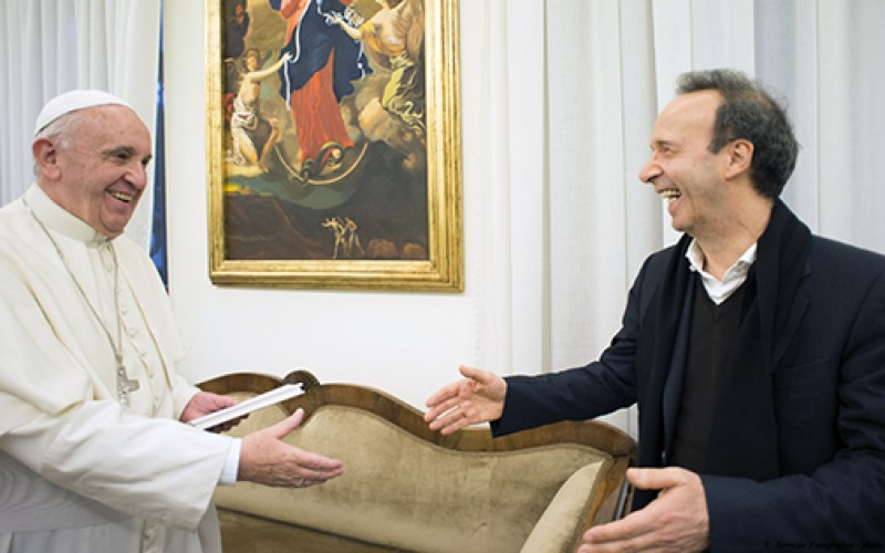 Comedian, cardinal, and inmate present pope's book on mercy