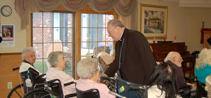 Bishop Sullivan tours local hospital