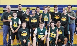 The boys varsity basketball team at Bishop McHugh Regional Catholic School recently won the Atlantic/Cape Catholic League Championship, held at Holy Spirit High School, Absecon. The team also won the Optimist Tournament.