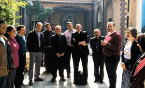 Andres Arango, Bishop's Delegate for Hispanic Ministry for the Diocese of Camden, (center), is pictured with a Catholic Relief Services delegation and workers in Egypt. The work of CRS includes currently assisting 17 countries in Latin America and the Caribbean.