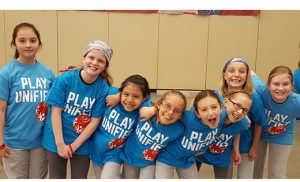 "Cape Trinity Catholic's fourth grade students enjoyed a ""Unified Game Day with Special Olympics"" at the Wildwood Convention Center, with students from other Wildwood-area schools and Cape May Special Services."