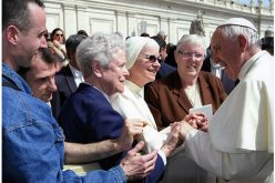 Greeting Pope Francis