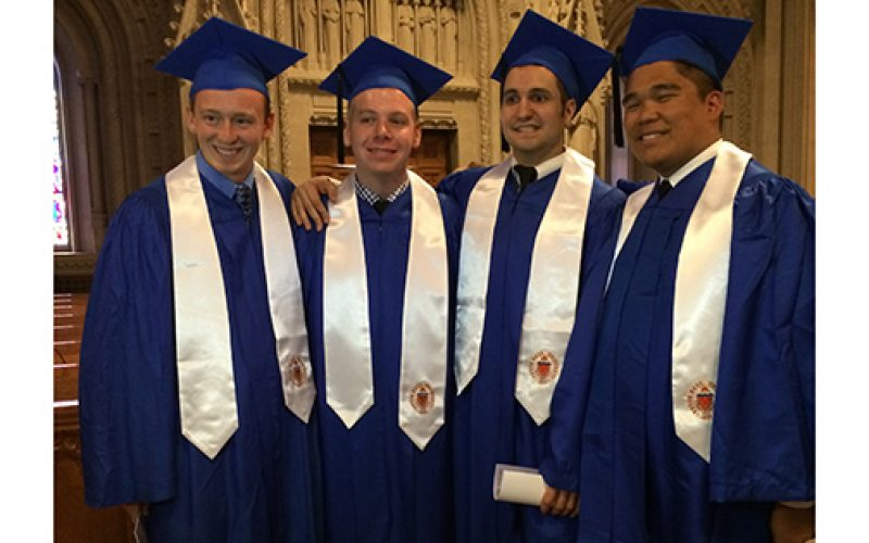 Diocesan seminarian presents Seton Hall salutatory address
