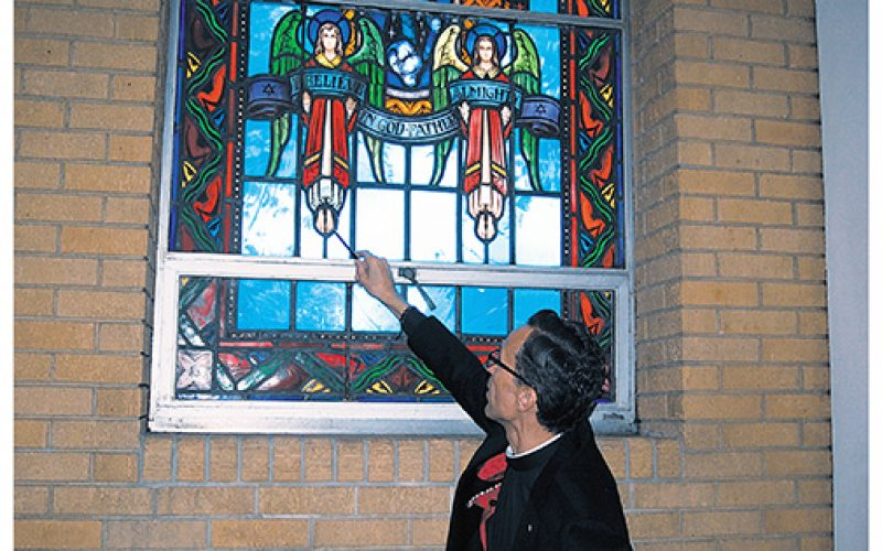 Let the Son shine in through repaired stained glass windows