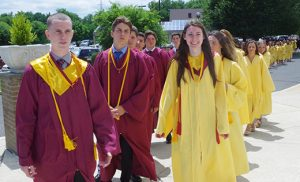 Graduates of Gloucester Catholic High School, Gloucester City, attend the school's 87th baccalaureate Mass and commencement exercises on June 2 at Our Lady of Hope Church, the Church of Saint Agnes, in Blackwood.