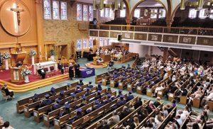 Wildwood Catholic High School baccalaureate Mass and commencement was held June 1 at Saint Ann Church, Notre Dame de la Mer Parish, Wildwood.