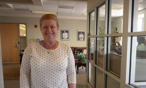 Arlene McGuiness receives Financial Coaching at Catholic Charities' Camden office. Photo by Joanna Gardner