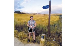 "Adderly on the Camino de Santiago, or ""Way of Saint James."" Making the 500-mile trek helped her discern a call to religious life."