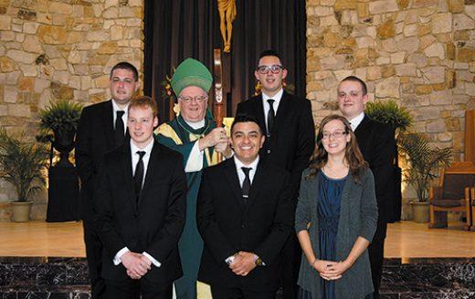 Mass welcoming new seminarians