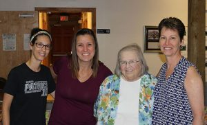 Pictured at Our Lady of the Mountains in Stanton, Kentucky, are. from left, Johannna Doukakis, Jackie Valvardi, Sister Mary Jane Kreidler and Kathy Doukakis. Saint Rose of Lima Parish in Haddon Heights holds a biannual clothing drive for the Kentucky parish. Photo courtesy Jackie Valvardi
