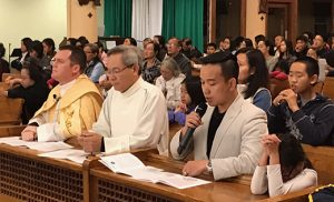 The Diocese of Camden kicked off their First Thursday Holy Hour for Vocations last month at Most Precious Blood Parish in Collingswood. Joining Father Michael Romano, diocesan director of Vocations, in prayers for an increase in vocations to the priesthood that night were members of the Vietnamese community, including many youth. Upcoming Holy Hours for Vocations are, Dec. 1, Notre Dame de la Mer Parish, Wildwood; Jan. 5, Saint Elizabeth Ann Seton, Absecon; March 2, Saint Gabriel the Archangel, Carneys Point; and April 6, Divine Mercy, Vineland. For more information, visit www.camdenpriest.org/firstthursdays/