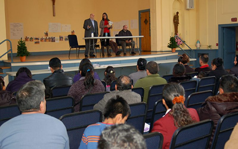 Immigration lawyers talk to anxious Latinos in Camden