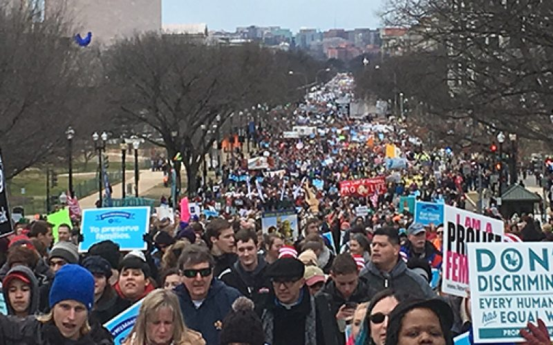 Jubilant crowd gathers in Washington to March for Life