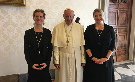 Professor discusses genocide prevention with pope