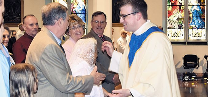 The joyful ordination of a new priest