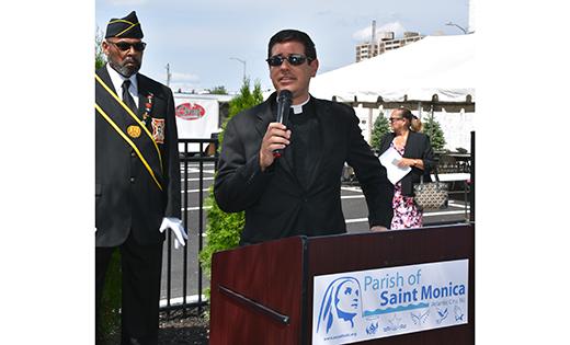 'To the Memory of Saint Monica's Church'