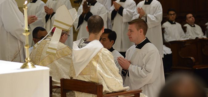 One step closer to the priesthood