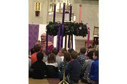 Advent wreath — The traditional symbol of the liturgical period