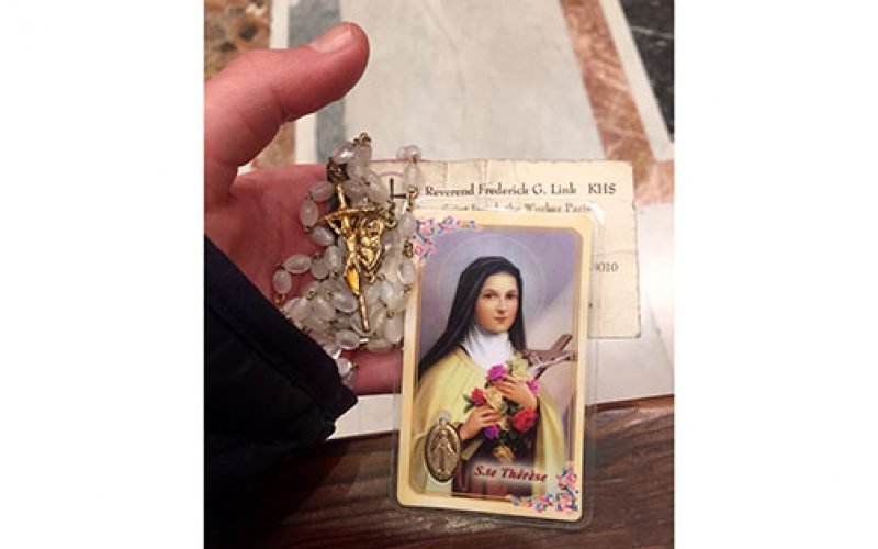Saint Therese, working overtime for a Cherry Hill woman in Rome