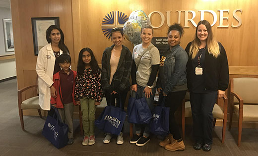 Our Lady of Lourdes' patients receive care packages