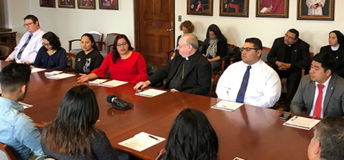 Bishop Sullivan meets with Dreamers