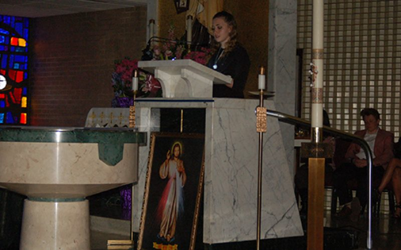 Parish youth take the lead in Divine Mercy celebration
