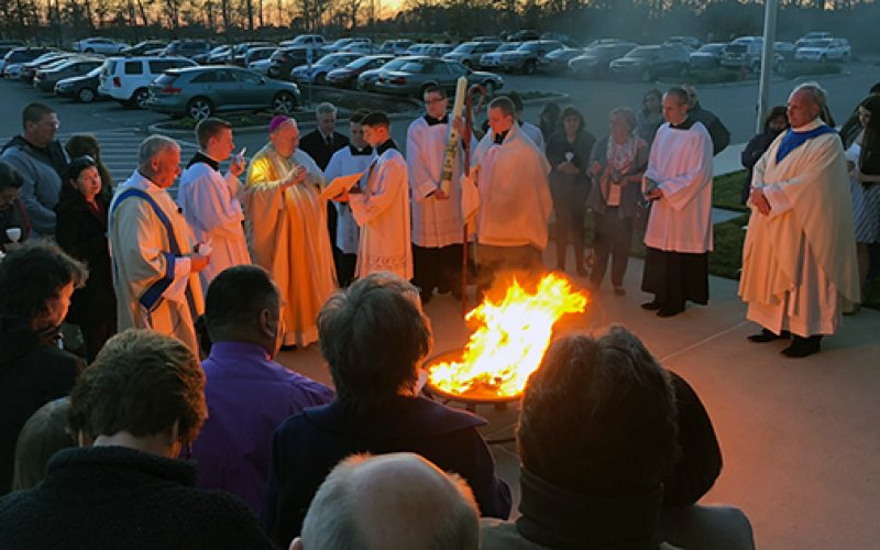 The celebration of the Easter Vigil in Mays Landing