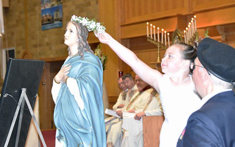 May Crownings at Knights Mass and at school