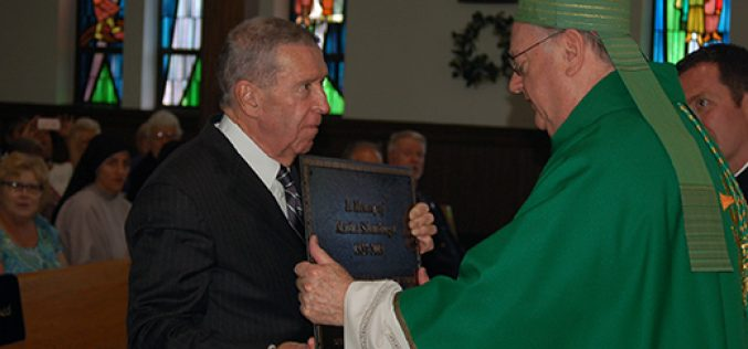 Bishop Sullivan blesses renovated sanctuary