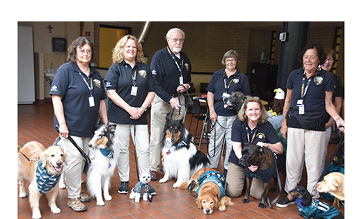 Our Lady of Lourdes' four-legged therapists